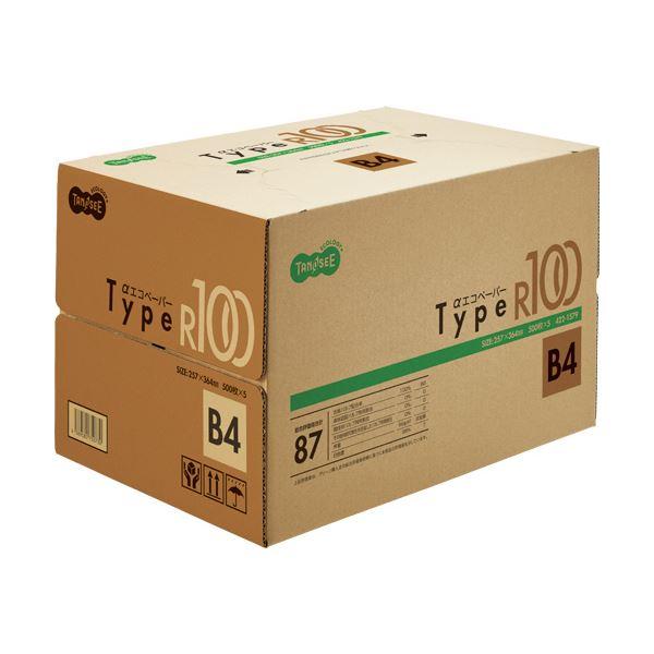 (まとめ) TANOSEE αエコペーパータイプR100 B4 1箱(2500枚:500枚×5冊) 【×5セット】【日時指定不可】