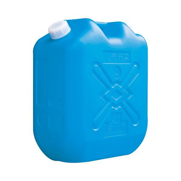(まとめ) 土井金属 灯油缶 18L ブルー 1個 【×10セット】【日時指定不可】