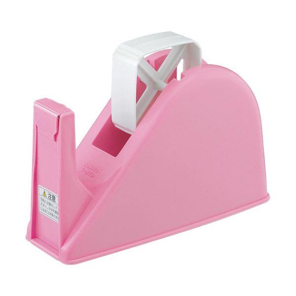コクヨ テープカッターW77×D175×H103mm ピンク T-M15P 1セット(10台)【日時指定不可】