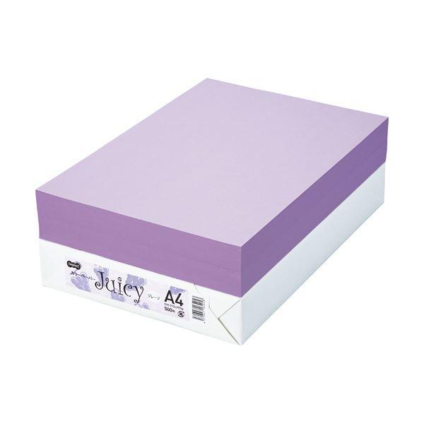 TANOSEE カラーペーパー Juicy グレープ A4 500枚 【×10セット】【日時指定不可】