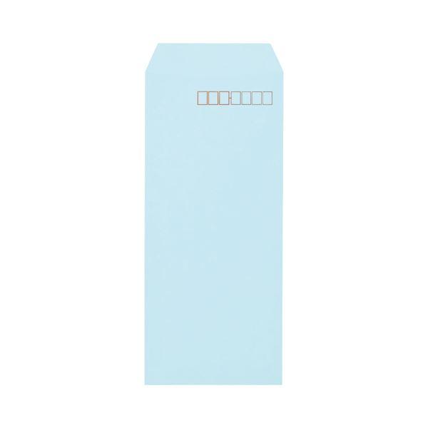 (まとめ) キングコーポレーション ソフトカラー封筒 長4 80g/m2 〒枠あり ブルー N4S80B 1パック(100枚) 【×30セット】【日時指定不可】