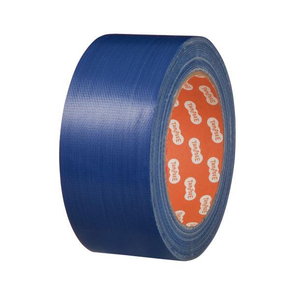 (まとめ) TANOSEE 布テープ(カラー) 50mm×25m 青 1巻 【×30セット】【日時指定不可】