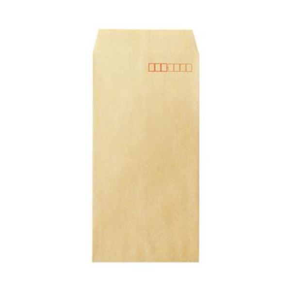 (まとめ)今村紙工 透けないクラフト封筒 裏地紋付長3 テープなし KFN3-100 1パック(100枚)【×20セット】【日時指定不可】