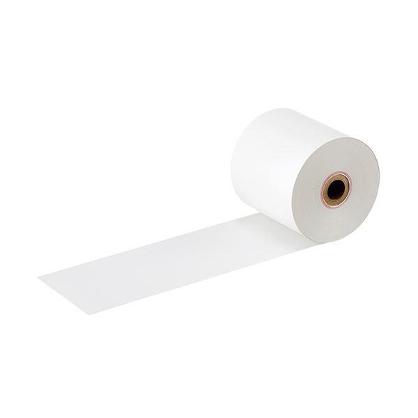(まとめ) TANOSEE FSC認証小径サーマルロール紙 紙幅58×外径60×芯内径12mm 厚さ65μ 42m巻 高保存タイプ 1パック(5巻) 【×10セット】【日時指定不可】