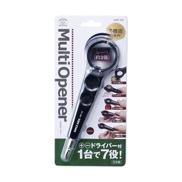 (まとめ)旭電機化成 マルチオープナー ブラックARP-03-BK 1個【×20セット】【日時指定不可】