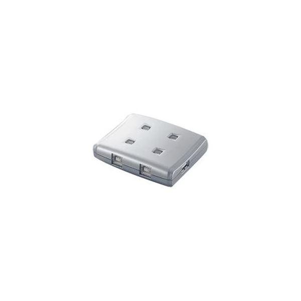 (まとめ)エレコム USB2.0対応切替器 4回路 USS2-W4 1台【×3セット】【日時指定不可】