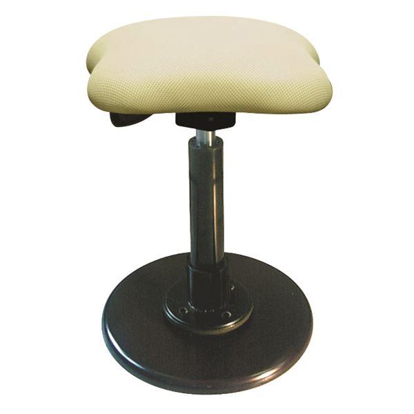 モダン スツール/丸椅子 【アイボリー×ブラック】 幅33cm 日本製 スチールパイプ 『ツイストスツールラフレシア3』【代引不可】【日時指定不可】