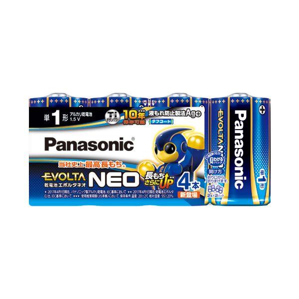 (まとめ) Panasonic 乾電池エボルタネオ単1形 4本入 LR20NJ/4SW【×10セット】【日時指定不可】