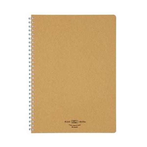 (まとめ)コクヨ ソフトリングノート(ナチュラル)セミB5 A罫 80枚 ベージュ ス-SV608A-S 1セット(5冊)【×5セット】【日時指定不可】