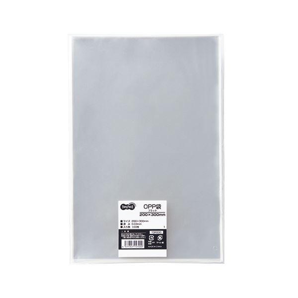 (まとめ) TANOSEE OPP袋 フラット 200×300mm 1パック(100枚) 【×30セット】【日時指定不可】