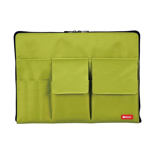 (まとめ) リヒトラブ バック・イン・バッグ A4黄緑 A-7554-6 1個 【×10セット】【日時指定不可】