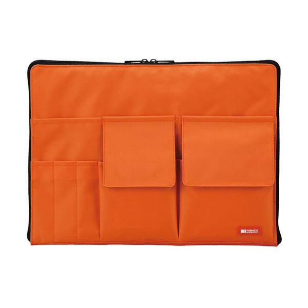 (まとめ) リヒトラブ バック・イン・バッグ A4橙 A-7554-4 1個 【×10セット】【日時指定不可】