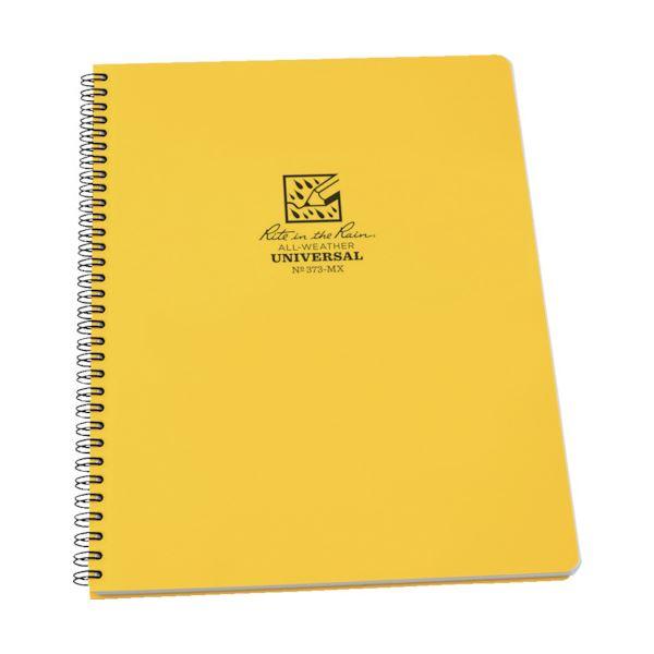 ライトインザレインスパイラルノートブック ユニバーサル イエロー 373-MX 1冊 【×10セット】【日時指定不可】