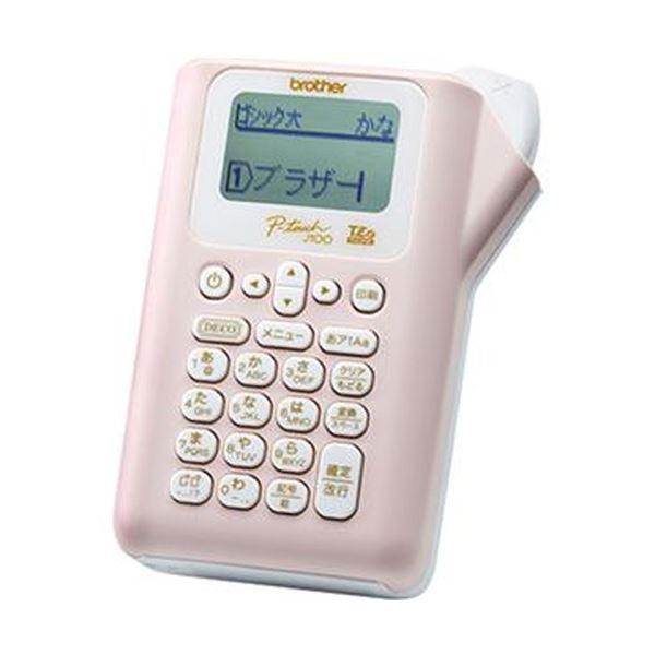 (まとめ)ブラザー ピータッチ ピンクPT-J100P 1台【×3セット】【日時指定不可】