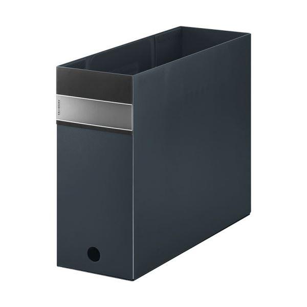 (まとめ) キングジム FAVORITESボックスファイル(透明) A4ヨコ 収納幅100mm 黒 FV4903Tクロ 1個 【×10セット】【日時指定不可】