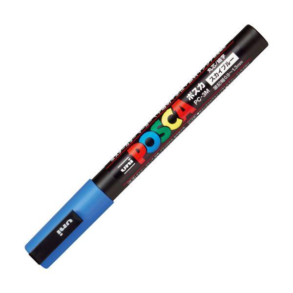 (まとめ)三菱鉛筆 ポスカ PC-3M.48 細字 スカイブルー【×100セット】【日時指定不可】