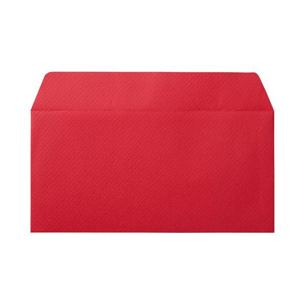 (まとめ) 寿堂 カラー横型封筒 110×220mm 127.9g/m2 テープのり付 〒枠なし クランベリー 10350 1パック(10枚) 【×30セット】【日時指定不可】