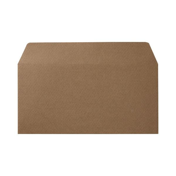(まとめ) 寿堂 カラー横型封筒 110×220mm 127.9g/m2 テープのり付 〒枠なし カフェモカ 10354 1パック(10枚) 【×30セット】【日時指定不可】