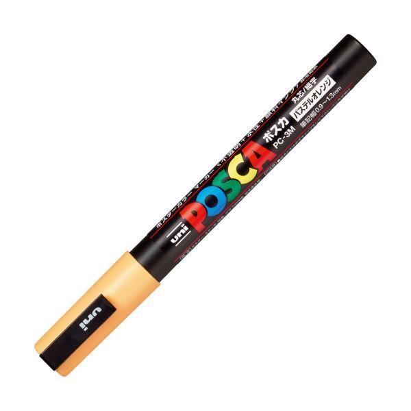 (まとめ)三菱鉛筆 ポスカ PC-3M.P.4 細字 パステルオレンジ【×100セット】【日時指定不可】