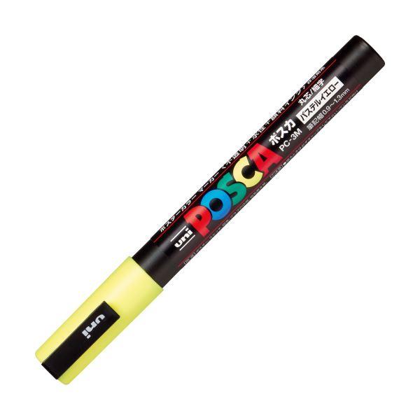 (まとめ)三菱鉛筆 ポスカ PC-3M.P.2 細字 パステルイエロー【×100セット】【日時指定不可】