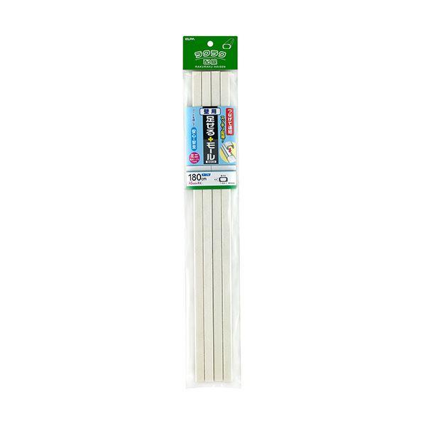 (まとめ)ELPA 足せるモール 壁用ミニ45cm テープ付 壁紙石目 PSM-K045P4(ST)1パック(4本)【×10セット】【日時指定不可】