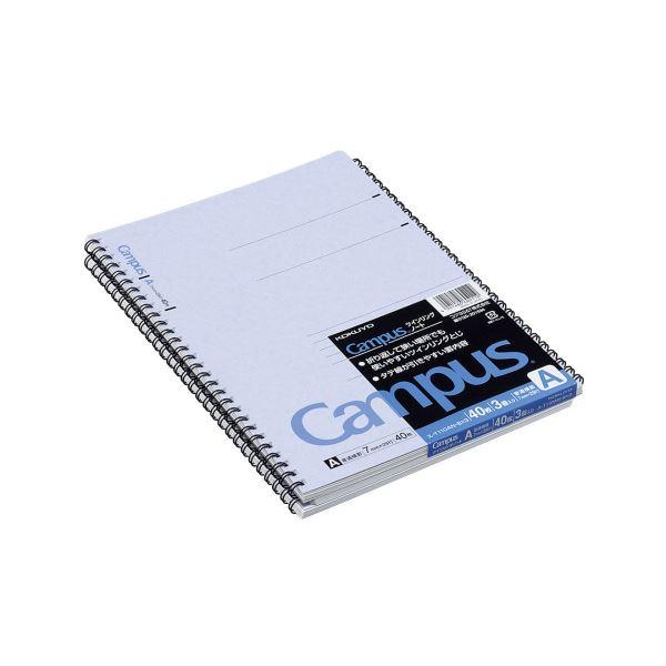 コクヨ キャンパス ツインリングノートセミB5 A罫 40枚 ス-T110AN-BX3 1セット(84冊:3冊×28パック)【日時指定不可】