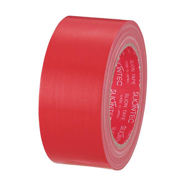 (まとめ) スリオンテック カラー布テープ 50mm×25m 赤 343702RD 1巻 【×30セット】【日時指定不可】