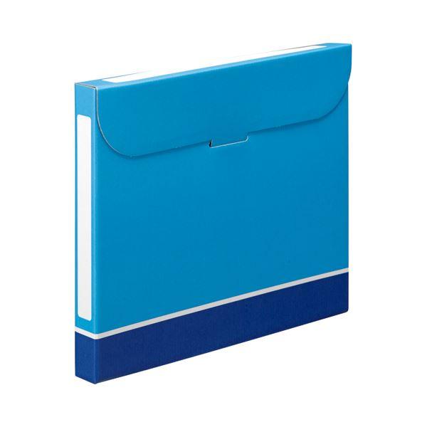 (まとめ) TANOSEE ファイルボックス A4 背幅32mm 青 1パック(5冊) 【×10セット】【日時指定不可】