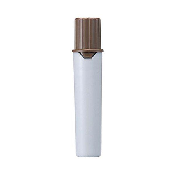 (まとめ) 三菱鉛筆 水性マーカー プロッキー詰替えタイプ用インクカートリッジ 太字角芯+細字丸芯 茶 PMR70.21 1本 【×300セット】【日時指定不可】