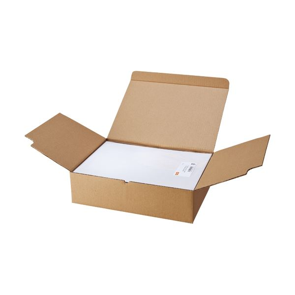 (まとめ) TANOSEE マルチプリンターラベル 業務用パック A4 ノーカット 1箱(500シート:100シート×5冊) 【×5セット】【日時指定不可】