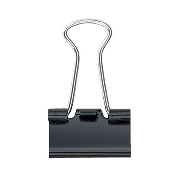 (まとめ) プラス ダブルクリップ 豆 口幅15mm黒 CP-106 1箱(10個) 【×100セット】【日時指定不可】