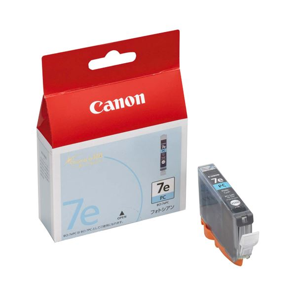 (まとめ) キヤノン Canon インクタンク BCI-7ePC フォトシアン 0368B001 1個 【×10セット】【日時指定不可】