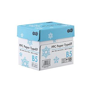 (まとめ) TANOSEE PPC PaperType EF B5 1箱(2500枚:500枚×5冊) 【×5セット】【日時指定不可】