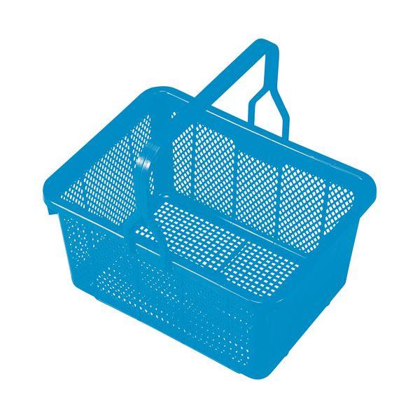 (まとめ) 積水テクノ成型 スクールバスケット ブルー【×10セット】【日時指定不可】
