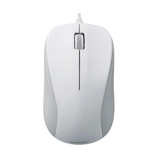 レーザーマウス/USB/3ボタン/ホワイト/RoHS指令準拠 【×10セット】【日時指定不可】