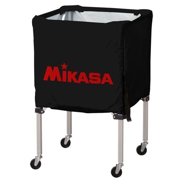 MIKASA(ミカサ)器具 ボールカゴ 箱型・小(フレーム・幕体・キャリーケース3点セット) ブラック 【BCSPSS】【日時指定不可】