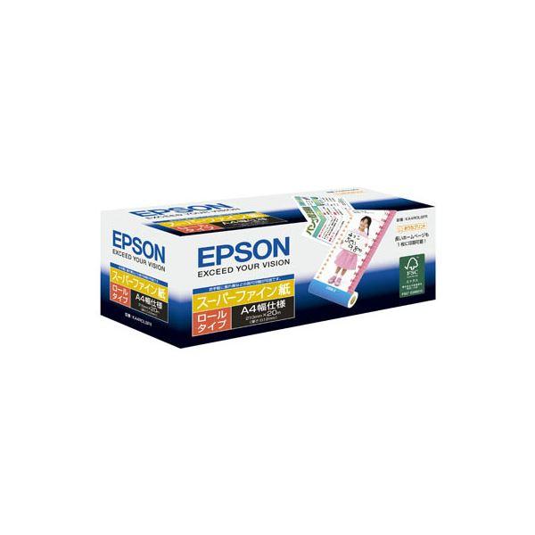 (まとめ) エプソン スーパーファイン紙 A4ロール210mm×20m KA4ROLSFR 1本 【×10セット】【日時指定不可】
