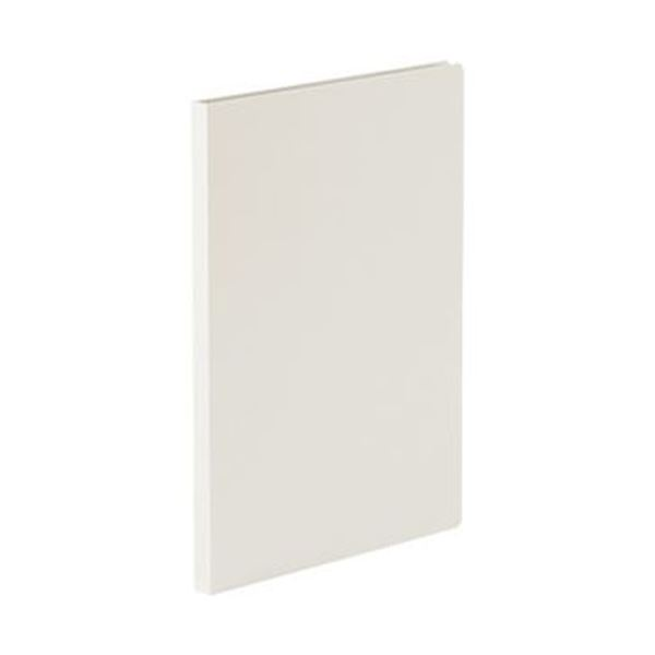 (まとめ)TANOSEE 貼り表紙クリアファイルA4タテ 20ポケット フロスティホワイト 1冊【×20セット】【日時指定不可】
