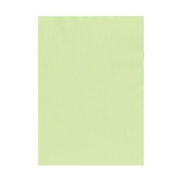 (まとめ) 北越コーポレーション 紀州の色上質A4T目 薄口 若草 1冊(500枚) 【×5セット】【日時指定不可】