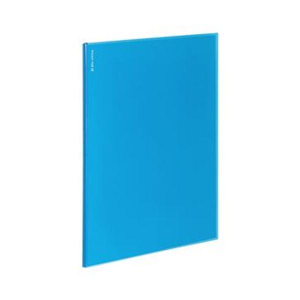 (まとめ)コクヨ ポケットファイルα(ノビータα)固定式 A4タテ 12ポケット 背幅3mm ライトブルー ラ-NF12LB 1セット(10冊)【×5セット】【日時指定不可】