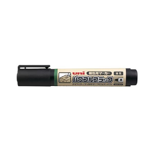 (まとめ) 三菱鉛筆 梱包用マーカーパワフルブラック PTNMK24 1本 【×50セット】【日時指定不可】