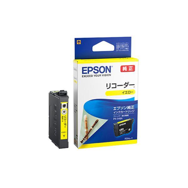 (まとめ) エプソン インクカートリッジ リコーダーイエロー RDH-Y 1個 【×10セット】【日時指定不可】