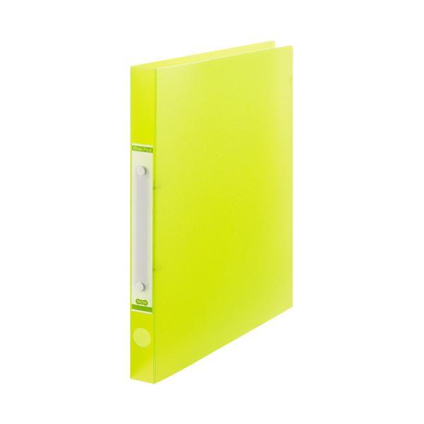 (まとめ) TANOSEEOリングファイル(半透明表紙) A4タテ リング内径20mm グリーン 1セット(10冊) 【×10セット】【日時指定不可】
