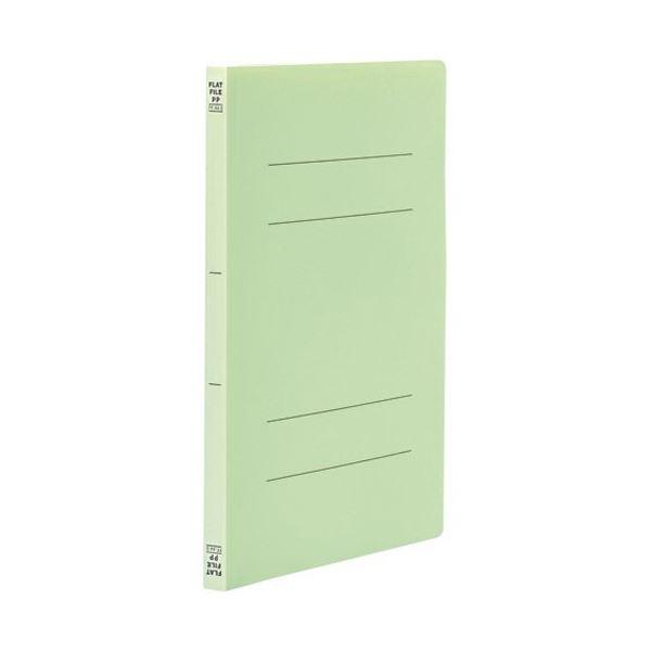 (まとめ) ビュートン フラットファイル A4タテ160枚収容 背幅18mm グリーン FF-A4S-GN 1冊 【×100セット】【日時指定不可】