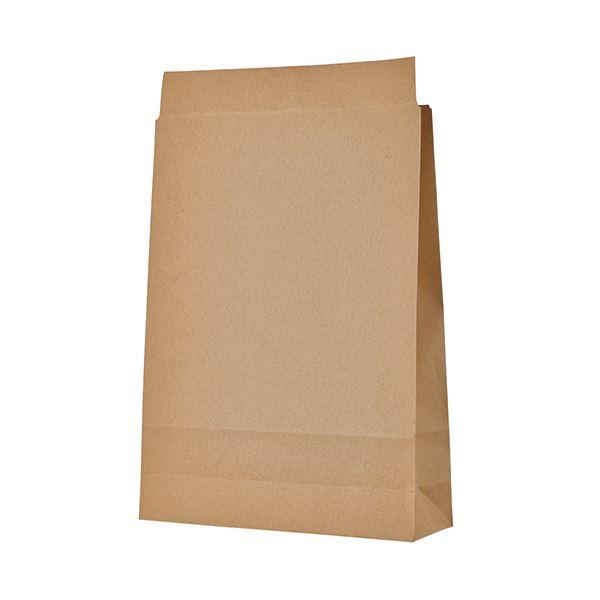TANOSEE 宅配袋 大 茶封かんテープ無し 1セット(400枚:100枚×4パック)【日時指定不可】