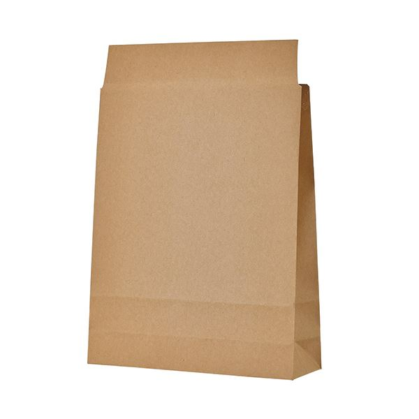 TANOSEE 宅配袋 小 茶封かんテープ付 1セット(400枚:100枚×4パック)【日時指定不可】