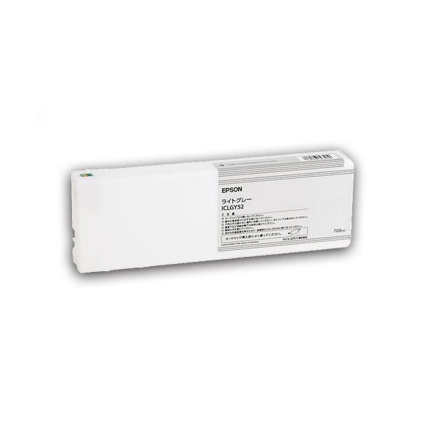 (まとめ) エプソン EPSON PX-P/K3(VM)インクカートリッジ ライトグレー 700ml ICLGY52 1個 【×10セット】【日時指定不可】
