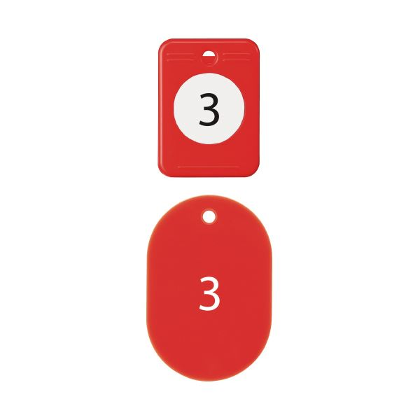 (まとめ)オープン工業 クロークチケット 1~20 赤BF-150-RD【×10セット】【日時指定不可】