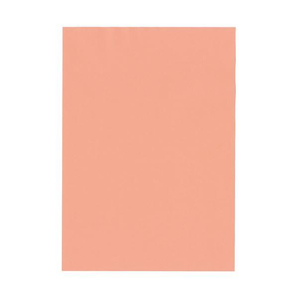 (まとめ) 北越コーポレーション 紀州の色上質A4T目 薄口 サーモン 1冊(500枚) 【×5セット】【日時指定不可】