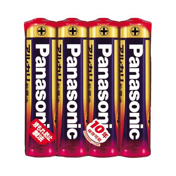(まとめ) パナソニック アルカリ乾電池 単4形LR03XJ/4SE 1パック(4本) 【×30セット】【日時指定不可】